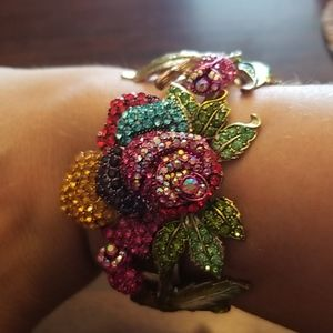 Statement Flower Fashion Bracelet With Tags